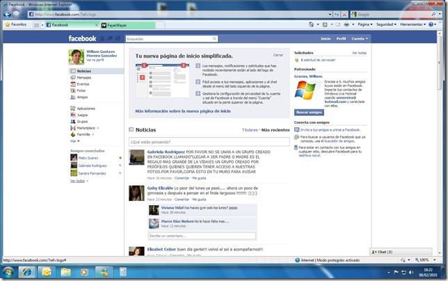 Rediseño Facebook